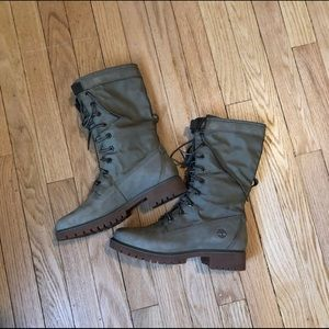 Army Green Timberland Boots